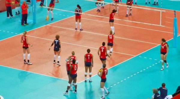Team GB vs Dominican Republic Women's indoor volleyball, Earls Court, 3 Aug 2012, London Olympics
