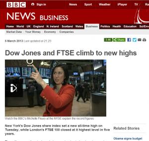 BBC 5 March 2013 - Dow Jones