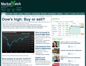 Dow Jones – 5 years high