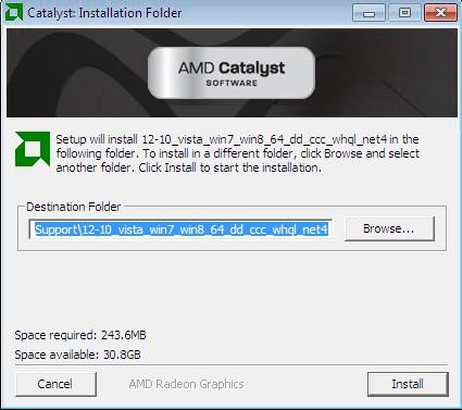 AMD Catalyst Software install